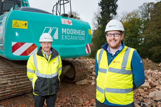 Colin Fitton, MD Moorhead Group and Jonathan Porter, new General Manager for Moorhead Group's North East division.